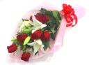 【花束/人気NO.2】ユリとバラの花束