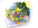 【母の日】レインボーカーネーションとかすみ草の花束