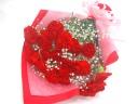 【母の日】赤いカーネーション20本とかすみ草の花束