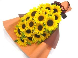 【父の日】ひまわりいっぱいの感謝の花束