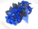 【オリジナル染色】青いバラ20本のお洒落な花束