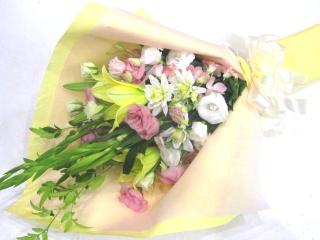 【供花】白系主体で洋花のみの明るいメモリアル花束