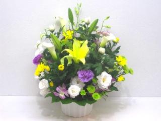 【供花】和洋折衷の上品なアレンジメント