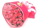 《希望本数可》ピンクバラ40本のブーケ風花束