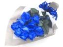 【オリジナル染色】青いバラ10本の花束