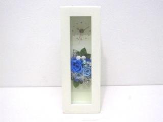 素敵な時計【ウッドクロックフレーム(ブルー)】