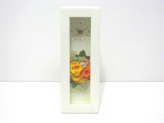 素敵な時計【ウッドクロックフレーム(黄色&橙)】