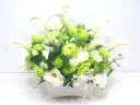 【供花】白&グリーン系の清楚なアレンジメント