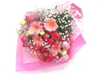 【花束/人気NO.3】ピンクのグラデーション花束