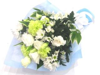 【供花】白&グリーン系の上品なメモリアル花束