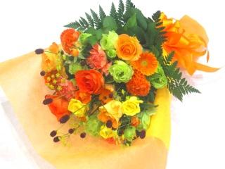 【敬老の日】秋色の華やかな花束