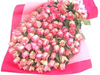 【最高級プレミアムギフト】ピンクバラ100本の花束