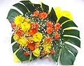 《とっても華やか》黄色&オレンジ系幸せいっぱい花束