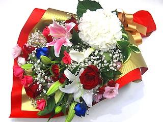 【敬老の日】長寿を祝う豪華な花束