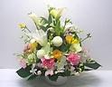 【春供花】明るく優しい色合いのアレンジメント
