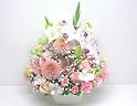 【春供花】淡いピンクの上品なアレンジメント