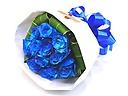 《花言葉・最愛》青いバラ11本のブーケ