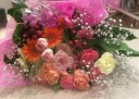 カラフル、フンワリ花束