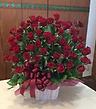 豪華、赤バラのアレンジメント