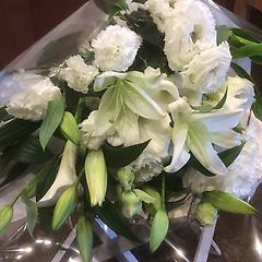 白上がり洋花お供え花束