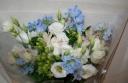 ホワイト&ブルー 花束