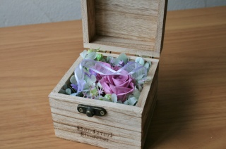 ウッドBOX-S-ピンク