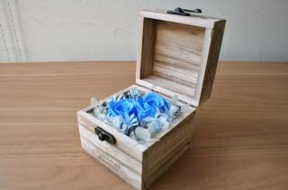 ウッドBOXーS-ブルー