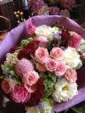 赤ピンク☆シックでお洒落な花束