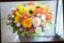 季節の花を使って 華やかに♪アレンジメント02