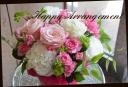 白・ピンク系 バラを使って♪アレンジメント 19