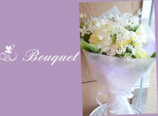 季節の花を使って ホワイトブーケ 2