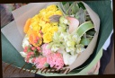 イエロー系 季節の花を使って おまかせブーケ 3