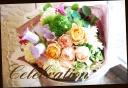 季節の花を入れて アンティーク風花束 7