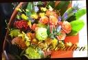 オレンジ系 色鮮やかな花束 15