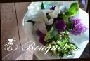 白・パープル系 季節の花束 17