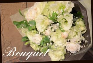 白系 季節の花でおまかせ花束 19
