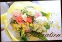 イエロー・オレンジ系 季節の花でおまかせ花束 20