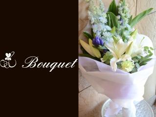 白ユリをメインに清楚な花束 22
