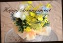 イエロー系 季節の花でアレンジメント 127