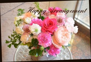 ピンク系 バラを使って アレンジメント 136