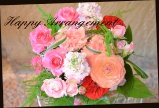 ピンク系 バラを使って アレンジメント 146