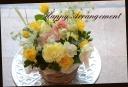 季節の花で 爽やかなアレンジメント 177