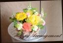 イエロー系 季節の花でアレンジメント 187