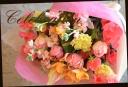 ピンク系 季節の花で おまかせ花束 45