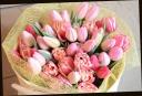 チューリップの花束 46