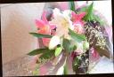 百合をメインに ピンク系 華やかな花束 50