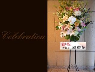 胡蝶蘭を使って 華やかなスタンドフラワー 219