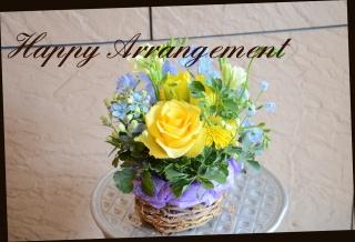 季節の花で 爽やかなアレンジメント 234