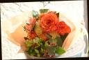 オレンジ系 バラをメインに おまかせ花束 62