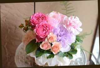 バラをメインに♪ ピンク系 アレンジメント 260